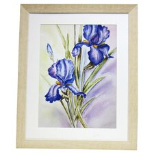 Premier Large Blue Irises Framed Graphic Art