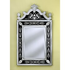 <strong>Venetian Gems</strong> Natasha Medium Wall Mirror in Black