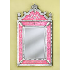 <strong>Venetian Gems</strong> Natasha Small Wall Mirror in Pink