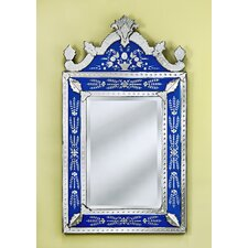 Natasha Large Wall Mirror in Blue