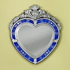 Corazon Venetian Wall Mirror in Blue