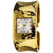 Women's Hammered Bangle Watch