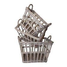French 3 Piece Rectangular Basket Set