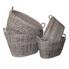 7 Piece Oval Storage Basket Set