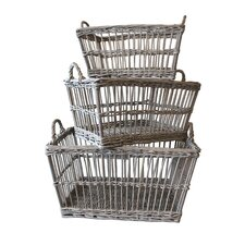 French 3 Piece Laundry Basket Set