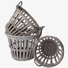 French 3 Piece Round Basket Set