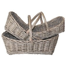 <strong>White x White</strong> French 3 Piece Gathering Basket Set