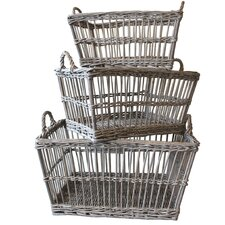 French 3 Piece Laundry Basket Set