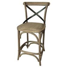 <strong>White x White</strong> X Bar Stool (Set of 2)