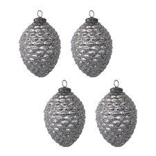 Mercury Glass Pinecone Ornament (Set of 4)