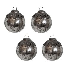 Mercury Glass Ornament (Set of 4)