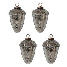 Mercury Glass Acorn Ornament (Set of 4)