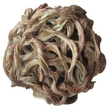 Wild Rattan Ball Sculpture