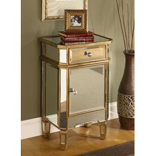<strong>Coast to Coast Imports LLC</strong> 1 Drawer 1 Door Mirrored Cabinet