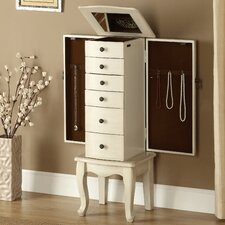 <strong>Coast to Coast Imports LLC</strong> Jewelry Armoire with Mirror