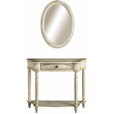 Console Table and Mirror Set