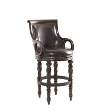 "Florentino Armando 30"" Swivel Bar Stool with Cushion"