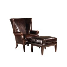 Marissa Leather Chair and Ottoman
