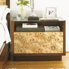 Mirage 2 Drawer Nightstand