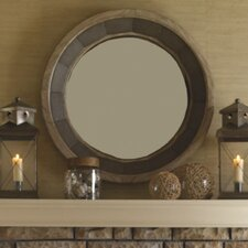 <strong>Lexington</strong> Twilight Bay Juliette Mirror in Distressed Textured Soft Taupe Gray