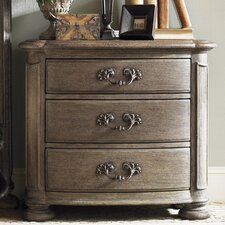 La Tourelle Merlot 3 Drawer Nightstand
