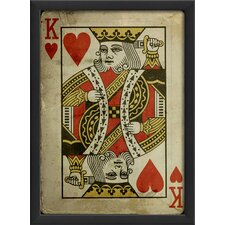 <strong>Blueprint Artwork</strong> King of Hearts Framed Art
