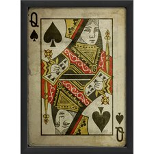 <strong>Blueprint Artwork</strong> Queen of Spades Framed Art
