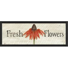 Fresh Flowers Framed Graphic Art