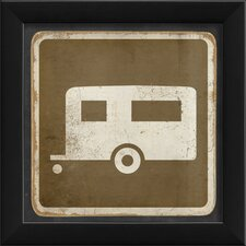 Sign Camper Framed Graphic Art