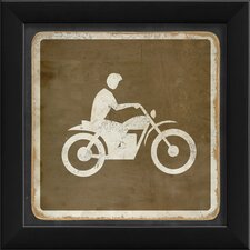 Sign Dirt Biking Framed Graphic Art