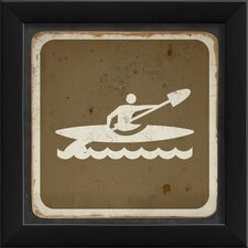 <strong>Blueprint Artwork</strong> Kayaking Sign Framed Art