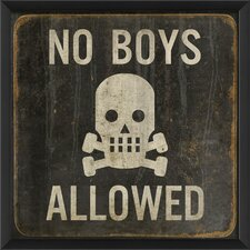 No Boys Allowed Framed Graphic Art