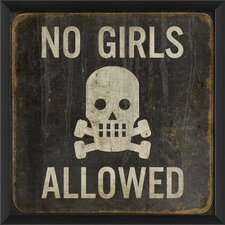No Girls Allowed Framed Graphic Art