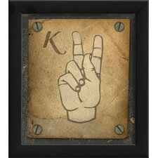 Sign K Wall Art