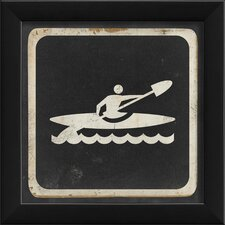 <strong>Blueprint Artwork</strong> Kayaking Sign Black Wall Art