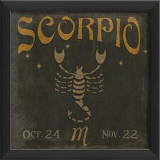 Zodiac Scorpio Framed Graphic Art