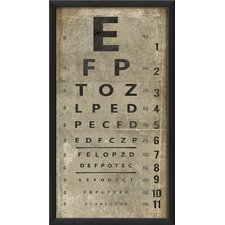<strong>Blueprint Artwork</strong> Eye Chart Wall Art