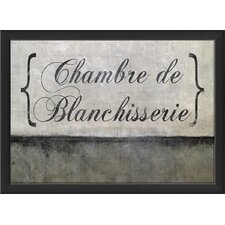 <strong>Blueprint Artwork</strong> Chamber De Blanchissserie Wall Art