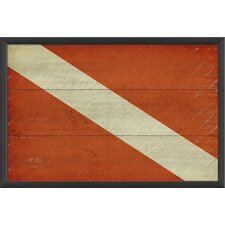 <strong>Blueprint Artwork</strong> Diver Down Flag Wall Art