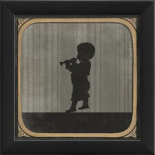 Boy Playing Horn Framed Graphic Art