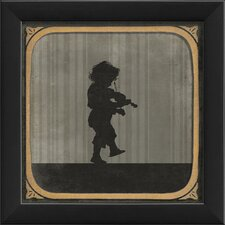 Boy Playing Violin Framed Graphic Art