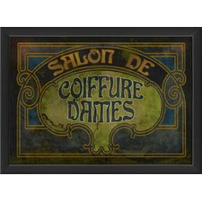 <strong>Blueprint Artwork</strong> Salon de Coiffure Dames Wall Art