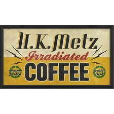 <strong>Blueprint Artwork</strong> HK Metz Irradiated Coffee Wall Art