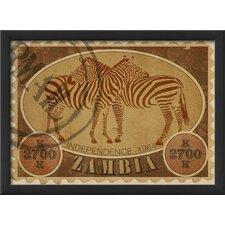 Zambia Postage Stamp Framed Vintage Advertisement