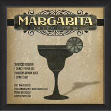 Margarita Mixology Framed Vintage Advertisement