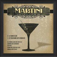 Martini Mixology Framed Vintage Advertisement