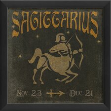 Zodiac Sagittarius Framed Graphic Art