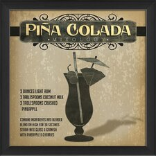 Pina Colada Mixology Framed Vintage Advertisement