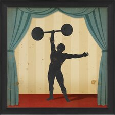 Stage Strongman Framed Graphic Art