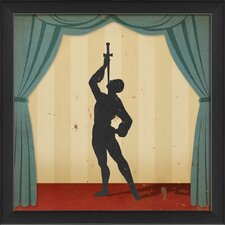 Stage Sword Swallower Framed Graphic Art